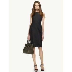 Ralph Lauren Black Leather Trim Sheath Dress 6
